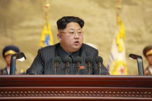 Líder norte-coreano Kim Jong Un, fala durante a 4ª Conferência Nacional de Veteranos nesta foto sem data, divulgados pela Agência de Notícias da Coréia do Norte Korean Central (KCNA) em Pyongyang 26 de julho de 2015. REUTERS / KCNA